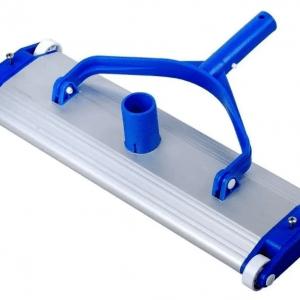 Barrefondo de aluminio con ruedas y cepillo de 45 cm