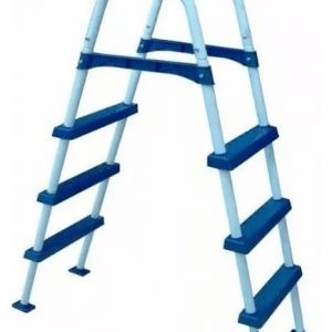 Escalera doble para piletas de lona en 3 peldaños