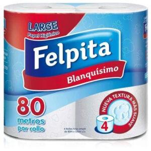 Papel Higiénico Felpita Blanquísimo